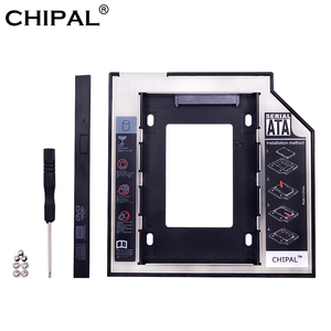 CHIPAL Aluminum LED 2nd HDD Caddy 9.5mm 12.7mm SATA 3.0 2.5'' SSD Case HD Hard Disk Drive Enclosure for Laptop DVD ROM CD-ROM