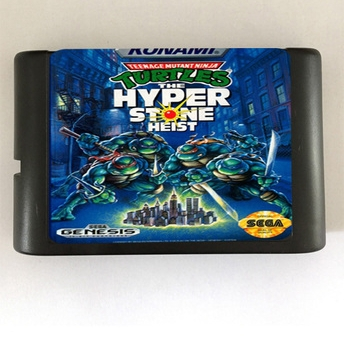 Top quality 16 bit Sega MD game Cartridge for Megadrive Genesis system --- Turtles Hyper Stone Heist image