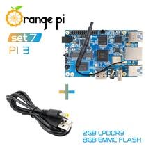 オレンジPi3 2G8G + 電源ケーブル、H6 BT5.0 android 7.0、ubuntuのは、debianミニシングルボード
