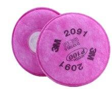 3 М 2091 Оригинальный P100 Сажевый Фильтр Защиты Органов Дыхания 99.97% Фильтр Эффективность Использования с 3 М Маска LT044
