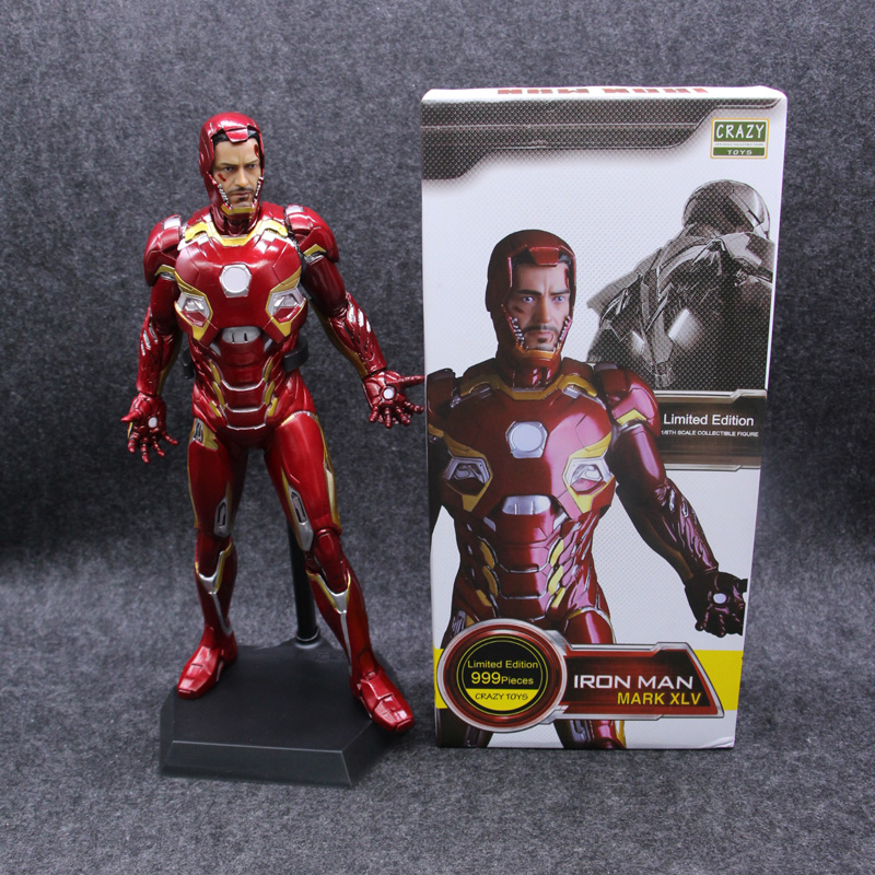 Crazy Toys Marvel Iron Man 3 Mark XLV MK45 1 6 Ironman Avengers PVC Collectible Figure