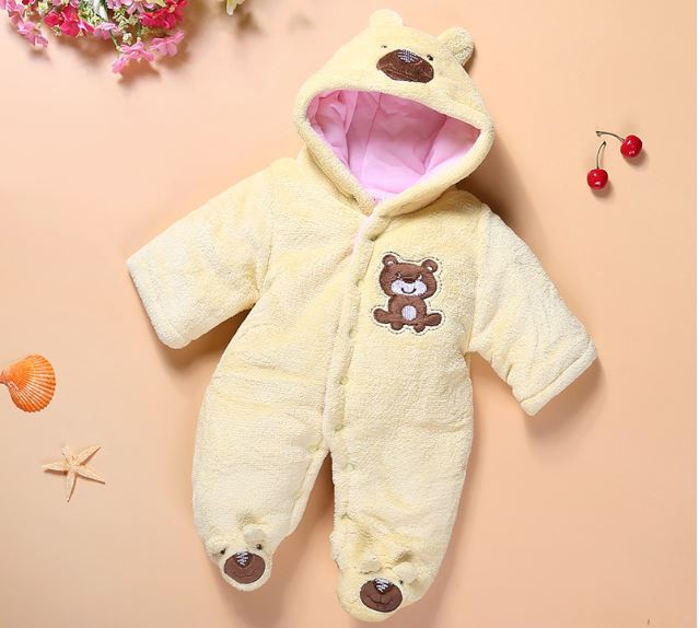 Cotton Baby Boy Girl Jumpsuit Newborn Winter Outerwear Children Thick Clothing Set Snow Wear Coat Warm Jackets Clothes Rompers 2017 new baby rompers winter thick warm baby girl boy clothing long sleeve hooded jumpsuit kids newborn outwear for 1 3t