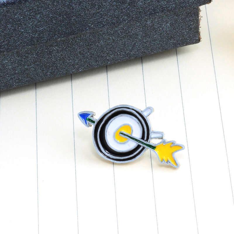 クリエイティブ漫画ブローチ雷矢印注バッジエナメル男性女性のためのデニムジャケット襟ピン子供の宝石類のギフト