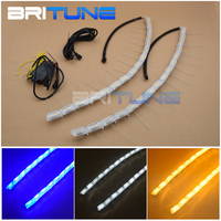 Newly Designed Overflow LED Switchback DRL Lights Extendable Crystal Sequential Strips With Blue/White/Amber Colors 50cm 69cm