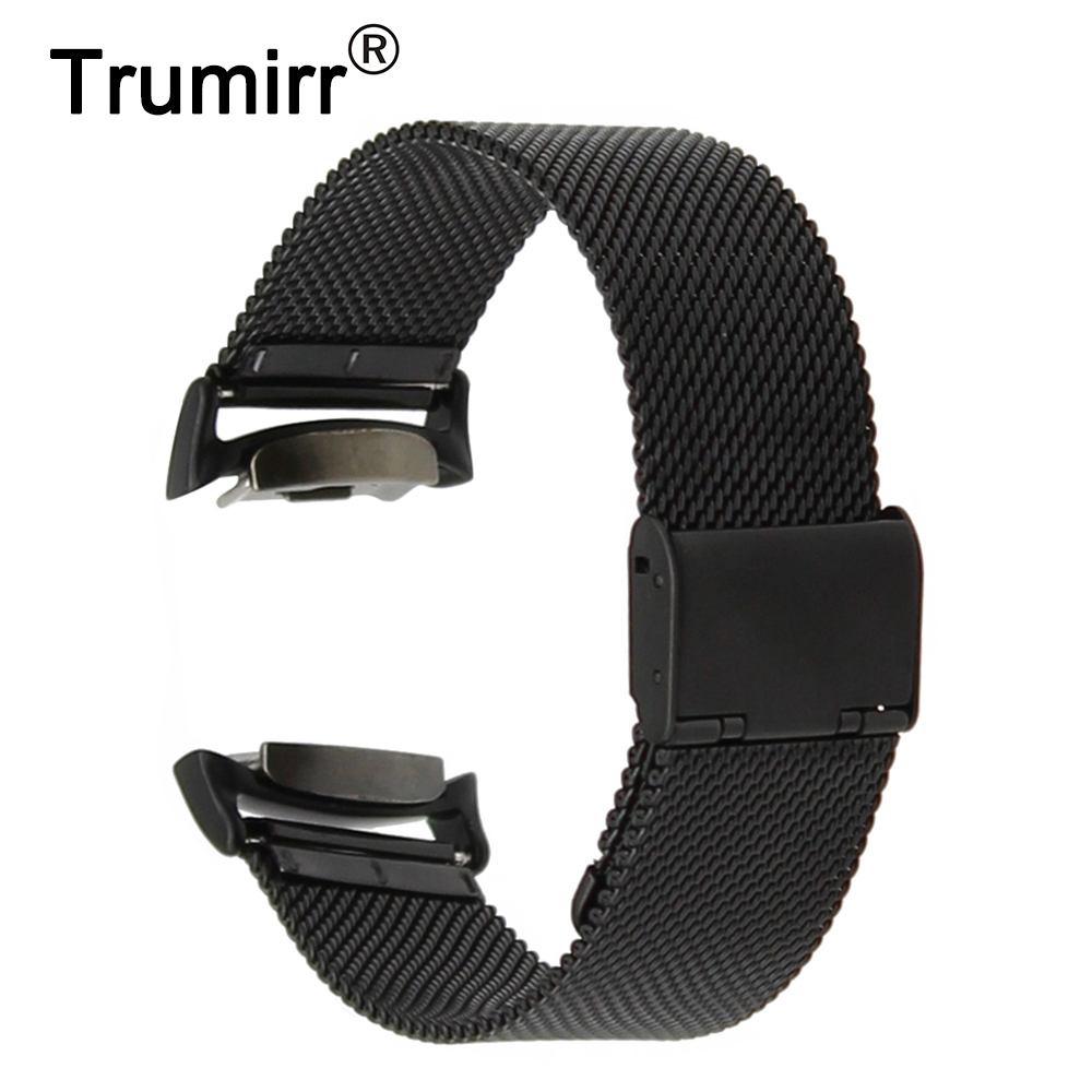 20mm Milanese Watchband with Adapters for Samsung Gear S2 SM-R720 / R730 Watch Band Stainless Steel Belt Wrist Strap Bracelet milanese loop for samsung gear s2 sm r720 stainless steel magnetic milanese band with connector for gear s2 rm 720 smgs2mlc