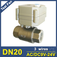 Two Way Motorized Valve With Manual Override SS304 3 4 Full Port 9 35VAC DC 3