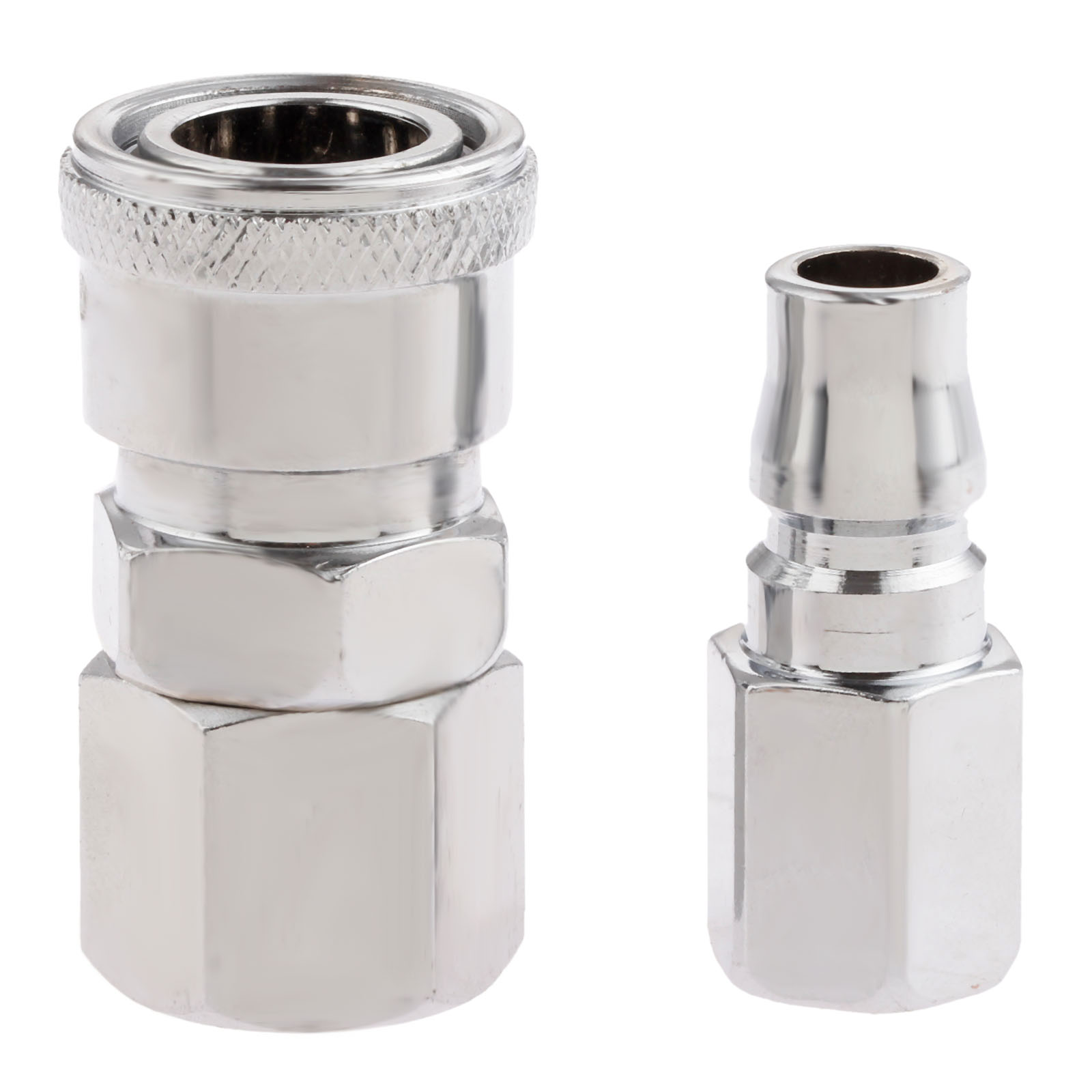 2Pcs Pneumatic Fittings Euro Air Line Hose Compressor Connector Quick Release 1/4BSP Female Thread Coupler Connector Fittings air pneumatic connector 6mm od hose tube push in m5 1 8 1 4pt 3 8 1 2 bspt male thread l shape gas quick joint fittings