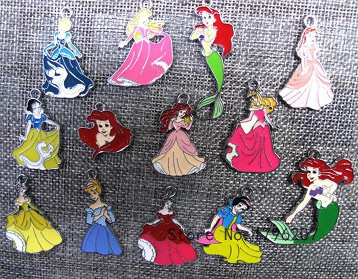 new 50PCS tsum  cartoon Metal Charms Pendants DIY Jewellery Making gifts