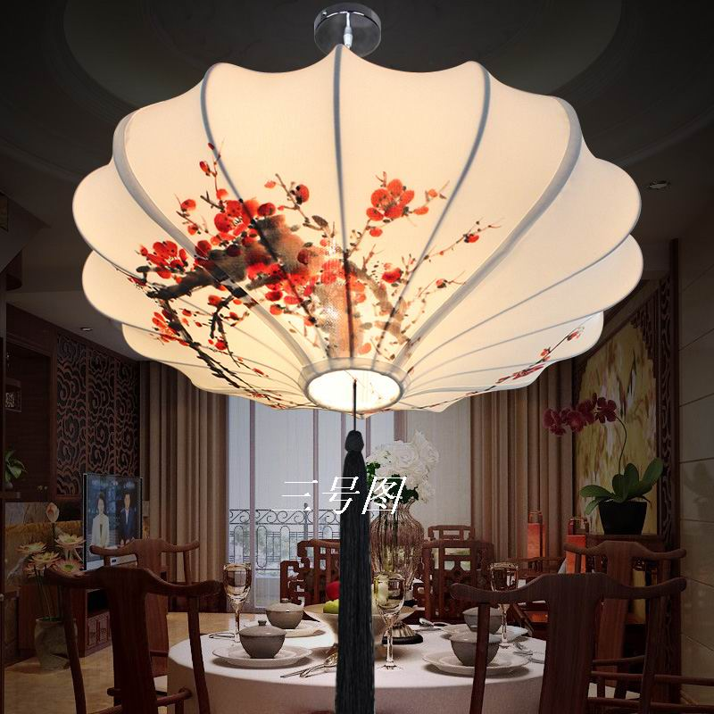 Chinese style lamps new classical fabric lotus leaf lamp rustic casual romantic decoration pendant lamp 40-60cm man hand drawing new arrival modern chinese style bamboo wool lamps rustic bamboo pendant light 3015 free shipping