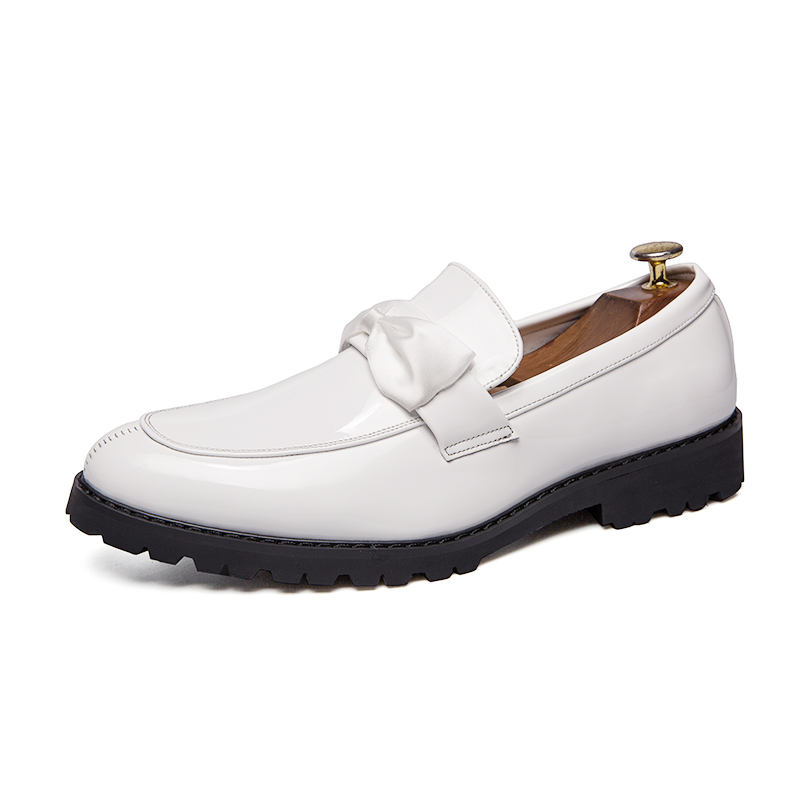 formal men leather shoes male trend Bow slip on footwear cool italian luxury brand wedding dress moccasins oxford shoes for men (5)