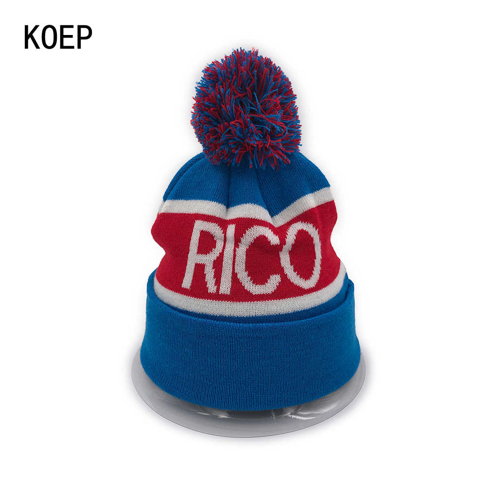 79e4cb6668e KOEP New RICO PUERTO Beanies Knit Cap Couple Winter Caps Skullies Bonnet Winter  Hats For Men