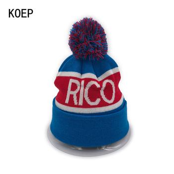 KOEP nowy RICO (gran canaria) PUERTO czapki czapka robiona na drutach para czapki zimowe Skullies Bonnet czapki zimowe dla mężczyzn damska czapka zimowa sporty narciarskie ciepłe czapki tanie i dobre opinie Skullies czapki KNI17RICO Dla dorosłych Unisex Akrylowe COTTON List Na co dzień 52-60cm White Blue Red Casual Fashion