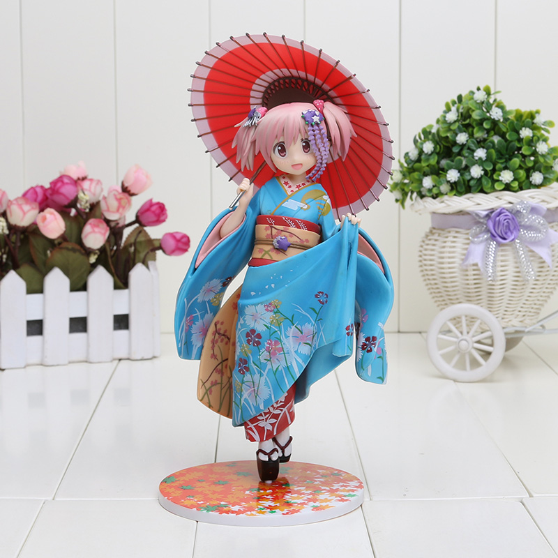 22CM Cartoon Good Smile Puella Magi Madoka Magica Kaname Madoka Maiko Ver 1/8 PVC Action Figure Toy paysota modern simple non woven cloth wall paper abstract embossed gray ring bedroom living room tv set wall paper roll