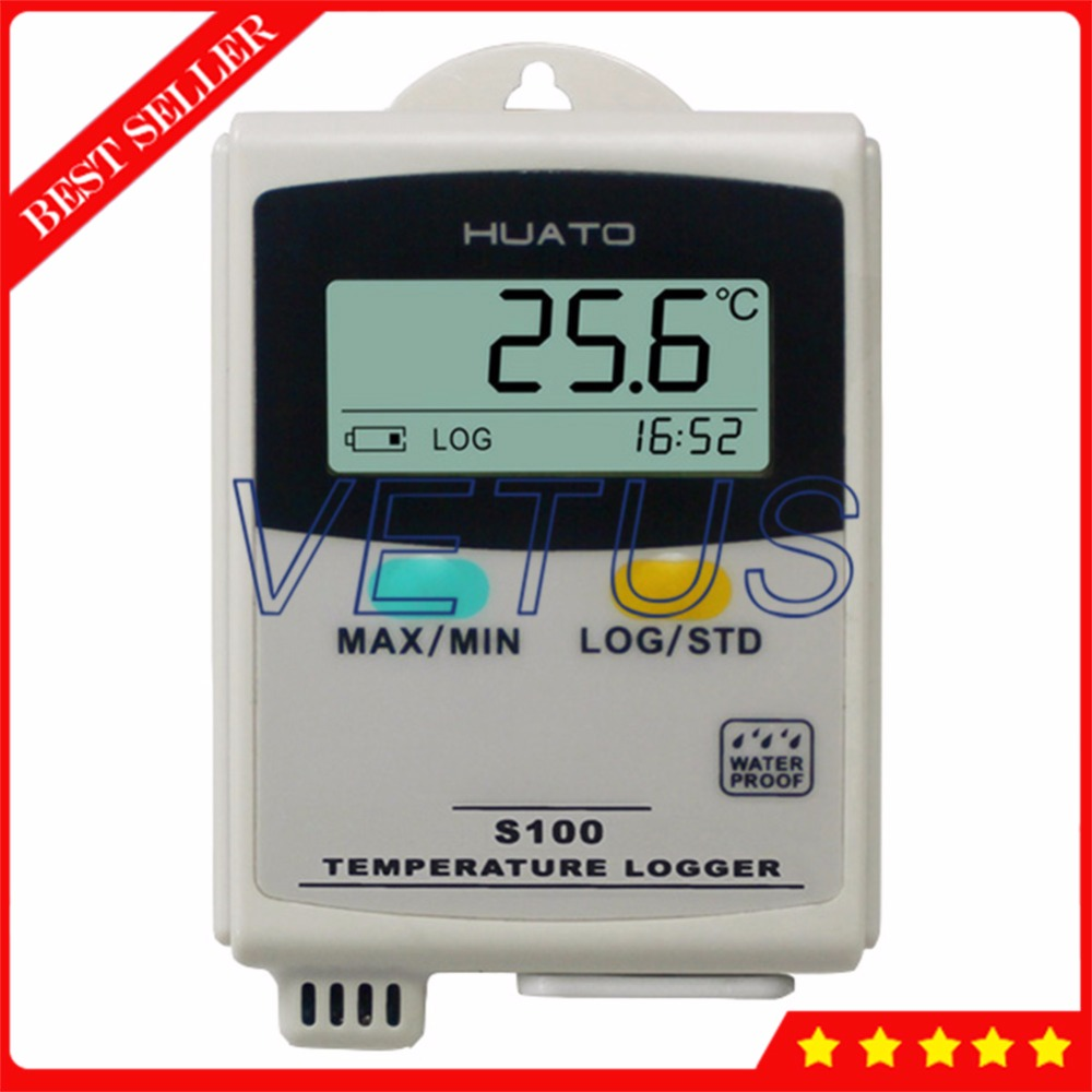S100-T USB interface Temperature Data Logger with LCD display -20~70C range temperature datalogger Interna Sensor 100 100c usb data logger s100 ept temperature datalogger with external sensor 4 3000 points storage function