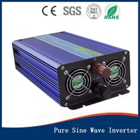 New Inverters 800W 12VDC to 110V/220VAC Off Grid Pure Sine Wave Single Phase Power Inverter Surge Power 1600W