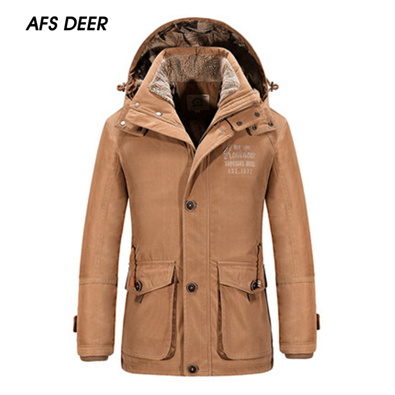 ФОТО 2016 British Style Winter Size L~ 3 XL Men Fashion Solid Color Pockets Button Hoodie Coat Young Boy Leisure Loose Warm Parkas