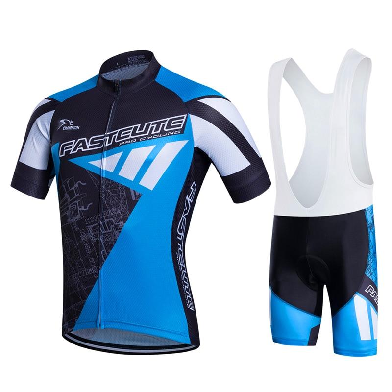 FASTCUTE100 % Полиэстер Дышащий Задействуя Джерси Набор Велосипед Одежда С Коротким Рукавом Майо Ропа Ciclismo Лето MTB Велосипед Одежда