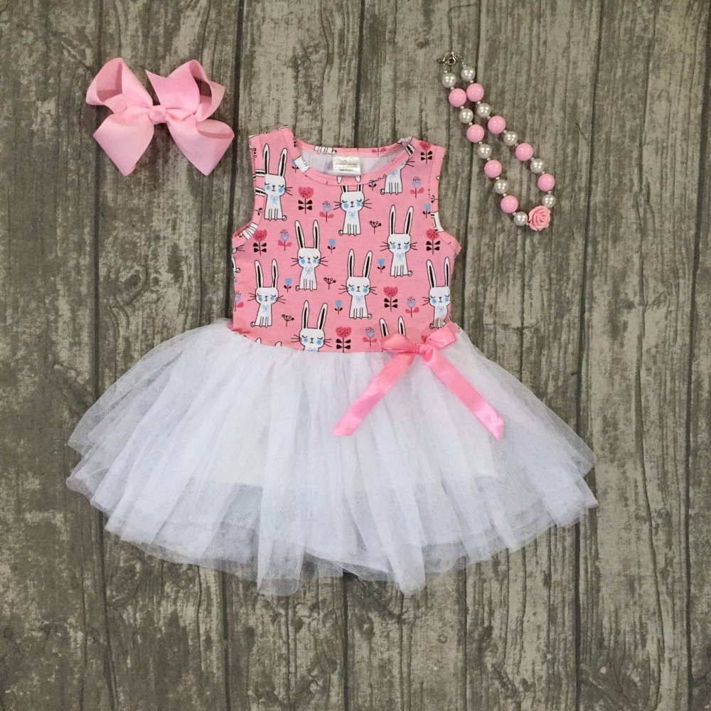 new Easter cotton design new baby girls kids boutique clothes pink bunny Yarn dress sets ruffles with matching accessories set yobangsecurity 7 inch wire video door phone doorbell intercom system waterproof outdoor camera with raincover intercom system