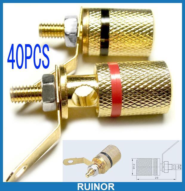 ФОТО 40 Pcs Binding Post for Speaker Amplifier Banana Plugs