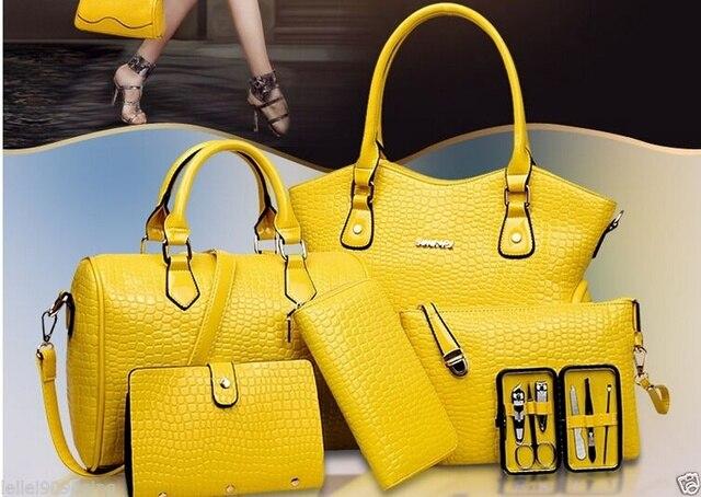 Mayfull New Fashion Hot 6pcs Set Composite Bag Shoulder Satchel Handbag Handbags 6