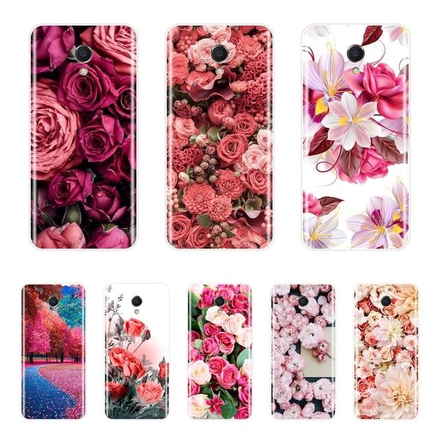For Meizu M2 M3 M3S M5 M5C M5S M6 M6S M6T Case Silicone Soft TPU Flower Phone Case For Meizu M6 M5 M3 M2 Note Cover