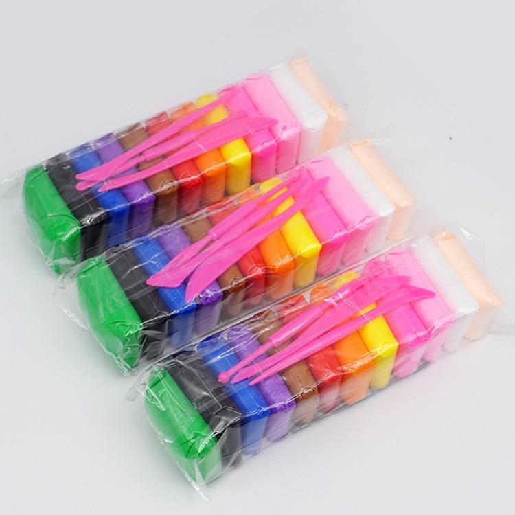 Argila leve ar seco polímero plasticina modelagem argila super leve diy macio criativo lodo educacional crianças brinquedos 12 cores/conjunto