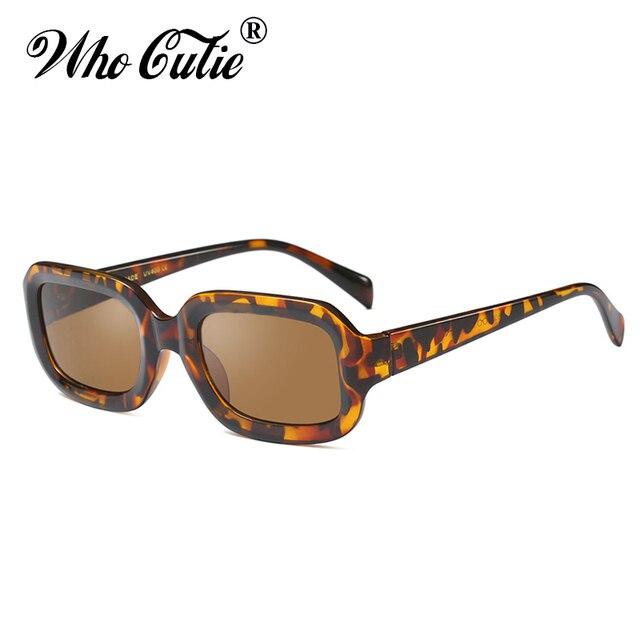 10b52bbef3cf WHO CUTIE 2019 Oversized Rectangular Sunglasses Women Brand Designer Retro  Vintage Thick Frame 90S Chic Sun Glasses Shades OM571
