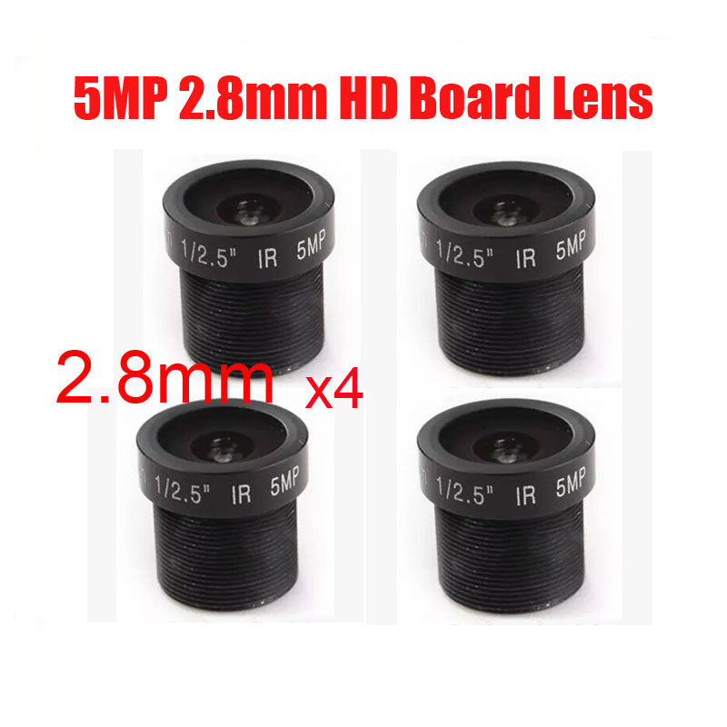 5 Megapixel HD 1/2.5 2.8mm 124 Degrees Wide Angle of View Board Lens M12 Mount For CCTV/IP Camera Free Shipping 3 megapixel full hd 1080p camera lens 3 6mm 128 degrees wide angle m12 0 5 mount 1 2 5 f2 0 fixed iris ir lens