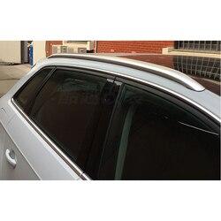 Accessori in argento Portapacchi Side Rails Bagaglio Trasportini Bar Trim per Audi A3 8 v 2012-2018 5- porte Hatchback