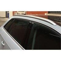 Acessórios de prata Lado Rack de Teto Trilhos Suportes de Bagagem Bar Guarnição para Audi A3 8 v 2012-2018 5- porta Hatchback