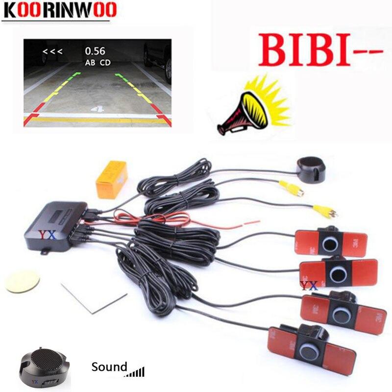 Koorinwoo Original 16.5 MILÍMETROS sistema de Vídeo Do Carro Sensor De estacionamento Dual Core Imagem jalousie Parktronic radar espelho retrovisor Para O Carro
