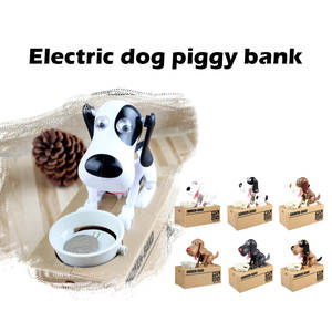 Toy Money Dog-Piggy-Bank Music Kids Play-Prop Electric for Money-Saving-Box Gift Pretend-Play-Toys