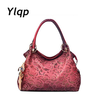 2014 Hot Selling Women Leather Handbag Hollow Out Vintage European And American Style Bags Shoulder Bag