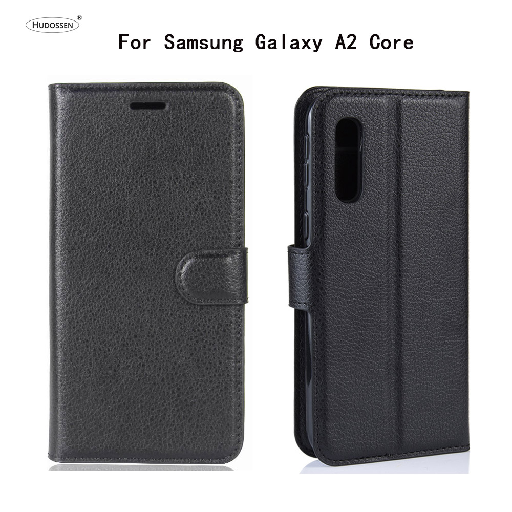 HUDOSSEN For Samsung Galaxy A2 Core Case Luxury Phone Protective A260F Flip Cover Wallet Leather Bags