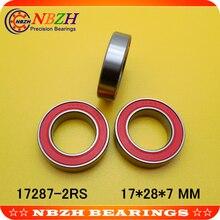 17287-2RS MR17287 17287 17287RS GCR15 шариковый подшипник 17x28x7 колеса велосипеда мм каретка для ремонта подшипников