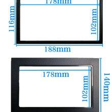 Универсальная автомобильная рама 2 Din, автомагнитола/рамка для android-плеера, Модифицированная декоративная рамка, панель 178x102 мм, без зазора