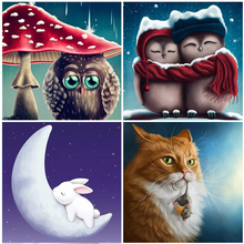 sale Owl Fantasy Cartoon Animal 5D Diamond Painting Cross Stitch Cats Home Decorations Craft Kits Full Square Drill Embroidered