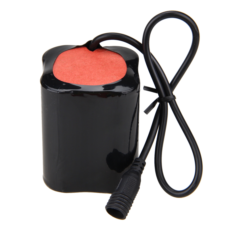 20000mAh 8.4V Battery Pack fit for L2 <font><b>T6</b></font> <font><b>LED</b></font> x2 x3 Bike <font><b>Bicycle</b></font> <font><b>Light</b></font> Head Torches Lamps image