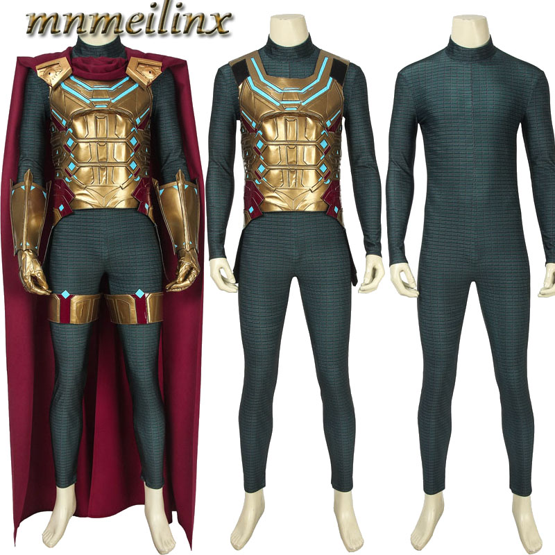 2019 Spider Man Far From Home Mysterio Cosplay Costume Superhero Jumpsuit Halloween Outfit Any Size-in Game Costumes from Novelty & Special Use