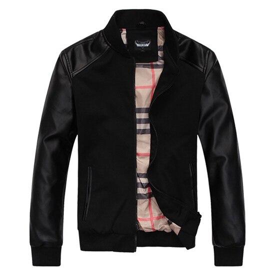 Новое прибытие кожаная куртка мужчины мужской Кожаной Куртки мужские основные куртки и пальто Спортивная Одежда Высокое качество Размер M-XXL бесплатно доставка
