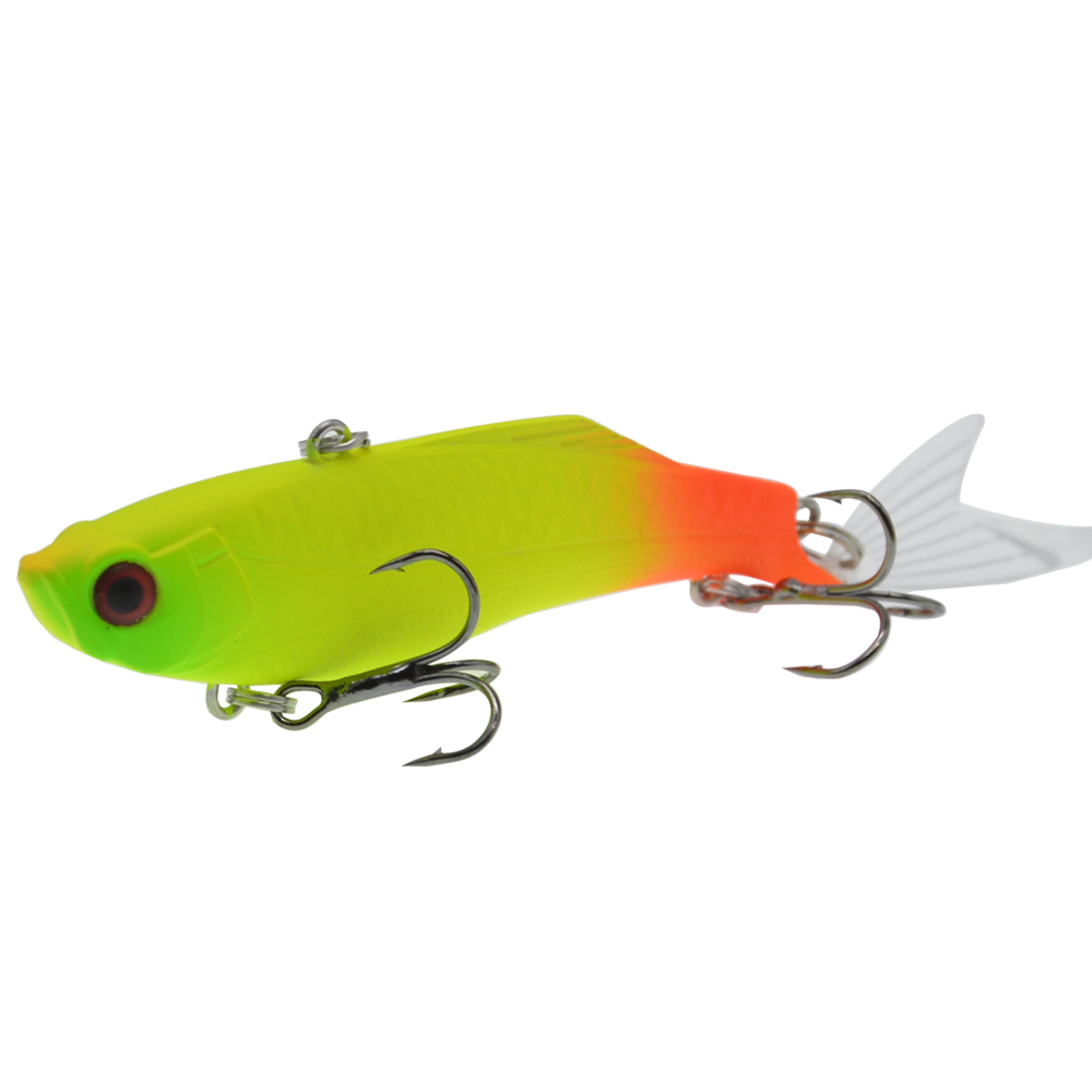 Image 5 - 1PCS 8.3cm/23g Winter Sea Hard Fishing Lure VIB Bait 3D eyes With Lead Inside Diving Swivel Jig Wing Wobbler Crankbait-in Fishing Lures from Sports & Entertainment
