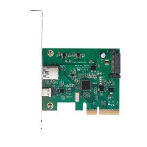 Image 2 - H1111Z PCI Express כדי USB3.1 USB C + USB3.1 סוג מארח בקר כרטיס עד USB3.1 Gen השני 10Gbps סעודת מהירות + ASM3142 ערכת שבבים