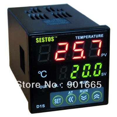 Sestos Dual Digital PID AC/DC 12-24V Temperature Controller 2 Omron Relay Output D1S dmx512 digital display 24ch dmx address controller dc5v 24v each ch max 3a 8 groups rgb controller