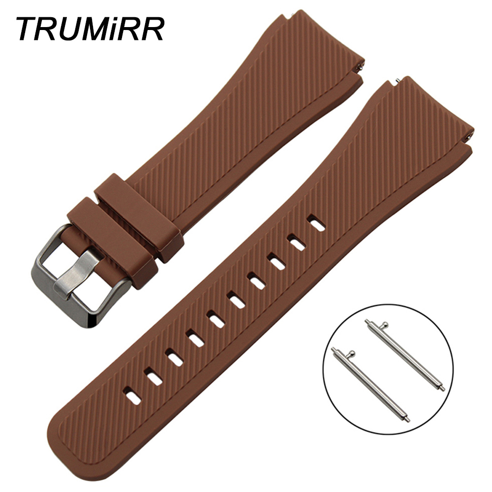 22mm Quick Release Silicone Rubber Strap for Asus ZenWatch 1 2 Men WI500Q WI501Q LG G Watch W100 W150 Urbane Wrist Band Bracelet lg watch lg watch w150 urbane silver