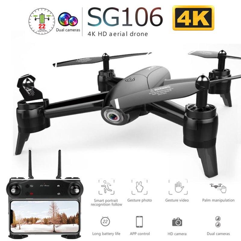 SG106 WiFi RC Zangão Câmera 4K 1080P 720P De Vídeo FPV RC Quadcopter 3D Controle Por Gestos de Rolamento Longo flytime para Kid Brinquedos RC Dron