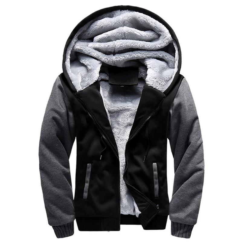 Official Website Fashion Mens Winter Sportswear M-5xl Hoodie Winter Warm Fleece Zipper Sweater Hiking Jacket Outwear New Arrival #4n25 Sports & Entertainment