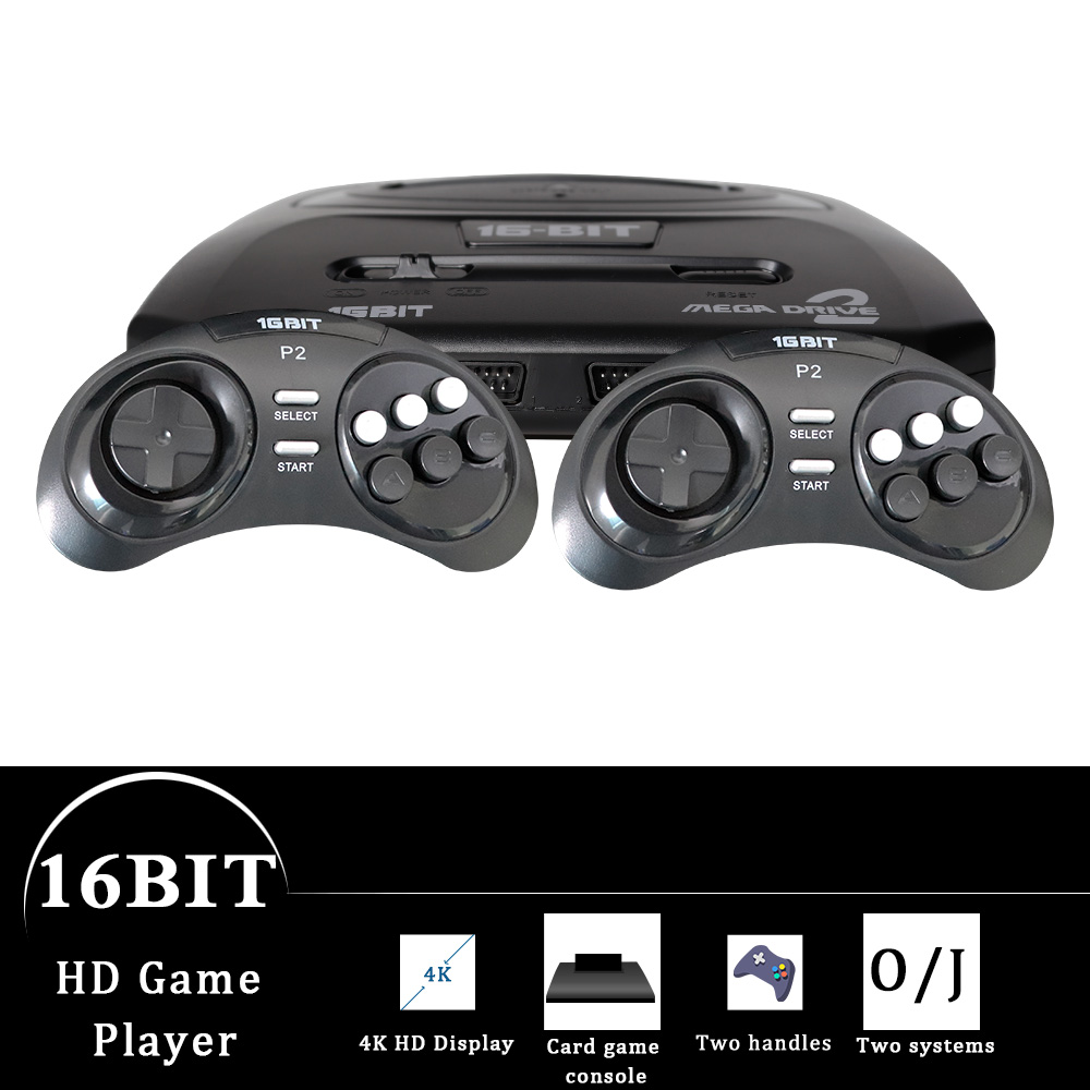 GTIPPOR 16BIT HD MEGA DRIVE2 MD2 TV VIDEO GAME CONSOLE WITH HDMI AV OUTPUT 2.4G WIRELESS CONTROLLER