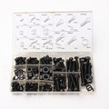 240PC Nylon Screws Nut And Bolt Washer Lock Assortment Kit Set M4 M5 M6 M8 M10