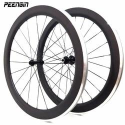 Koła ze stopu węgla clincher 50mm 700C roue alu węglowe koła aluminiowe zestawy kołowe/obręczy 23mm szerokości OEM fabryka sprzedaży dobrej cenie