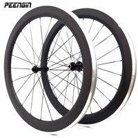 carbon alloy wheel clincher 50mm 700C roue alu carbon wheels aluminum road wheelsets/rim 23mm wide OEM factory sales good price